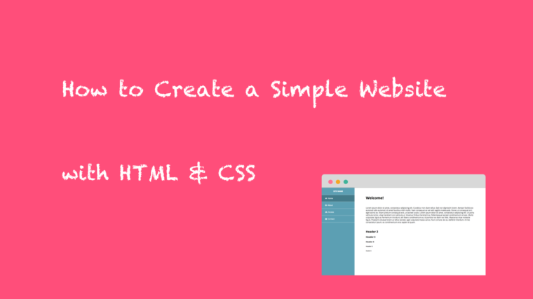 How to Create a Simple Website with HTML & CSS (TypeA : Sidebar Menu