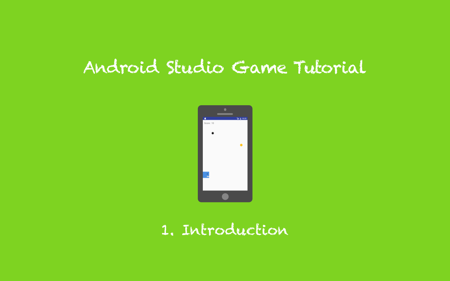 how to create a game in android studio